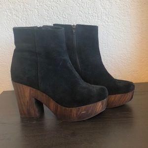 Topshop Black Suede Boots
